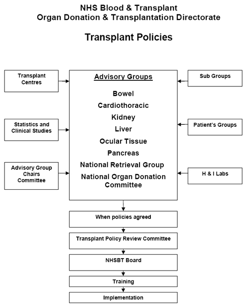 Diagram: Transplant Policies Development